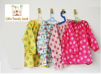 Brand New Boys Girls Kids Childrens Art Paint Smock Apron School