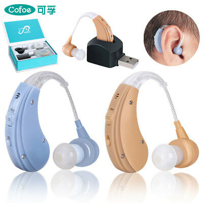 Cofoe Adjustable Sound Amplifier Behind the Ear Hearing Aids Rechargeable BTE