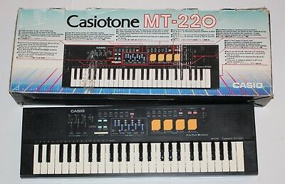 Casiotone MT-220 Portable Electronic Keyboard Vintage Casio Tested Works