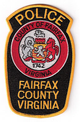 VA Fairfax County Police Department Supervisor's Patch (Gold) - Virginia