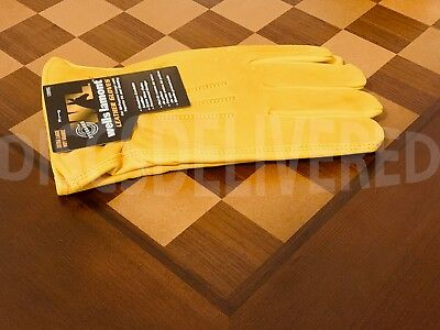 Wells Lamont Premium Cowhide Leather Work Gloves M, L, XL - Trusted Seller