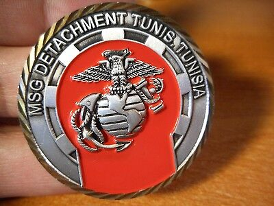 Marine Security Guard Detachment MSG Tunis Tunisia Embassy USMC Challenge Coin