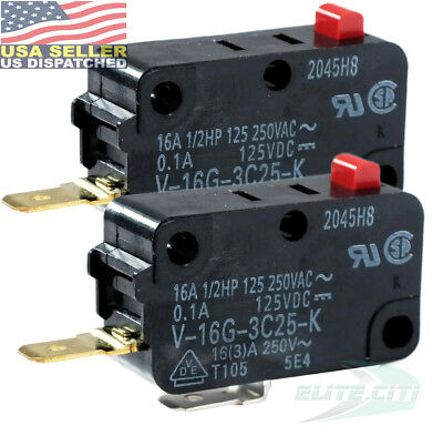 2x Omron V-16G-3C25-K Action Switches MINIATURE BASIC SWITCH