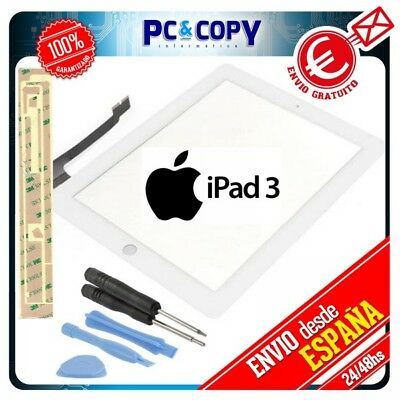 PANTALLA TACTIL IPAD 3 BLANCA DIGITALIZADOR GEN CRISTAL TOUCH SCREEN iPad3 + ADH