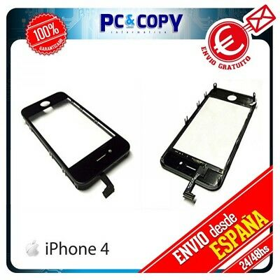 Pantalla Tactil Iphone 4 4G Marco Digitalizador Cristal Touch Screen  Negro