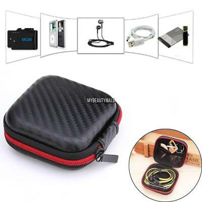 Square Carrying Hard Case Storage Bag holder For Bluetooth Earphone Headphone 01