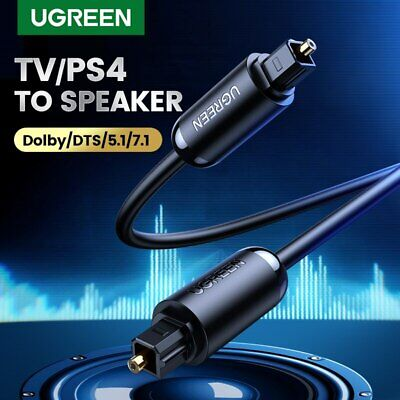 Ugreen Premium Digital Audio Optical Cable Toslink SPDIF Cord Fr TV PS4 PS3 Xbox