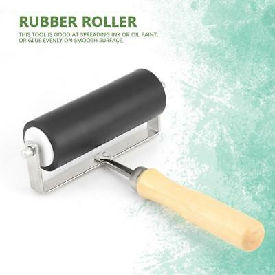 1Pc Heavy Duty Hard Rubber Roller Brayer Printing Inks Lino Brayer Art Tool