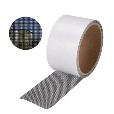 Window Door Screen Patch Repair Kit Black Mesh 5*200cm Window Hole Repaire T PQ