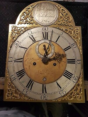 Clock Face 18th Century Brass Grandfather James Yardley Dial