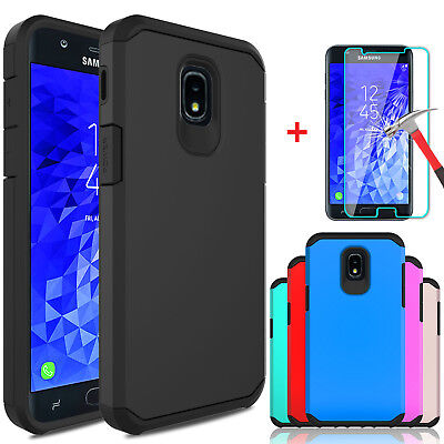 For Samsung Galaxy J7 V 2018/Crown/Refine/Star Case Cover With Screen Protector