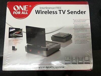 One For All Interference Free Wireless TV Sender (5.8GHz/100m) SV1730