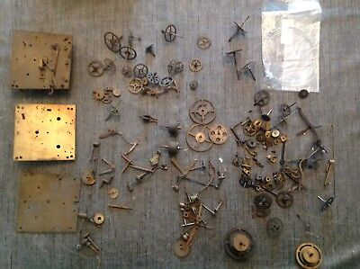Antique Vienna Clock Movement Parts Clockmakers Large Job Lot Spare Parts