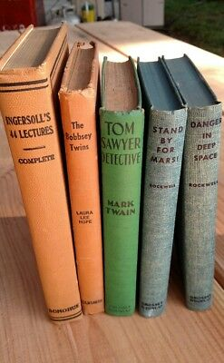 VINTAGE BOOKS~GOLD-COLORED LETTERING On Spines~Ships Free