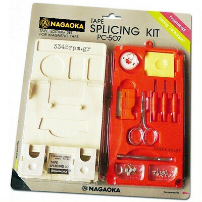 Nagaoka PC-507 Tape Splicing Kit - Real Cassette Microcassette Open-Reel Edit