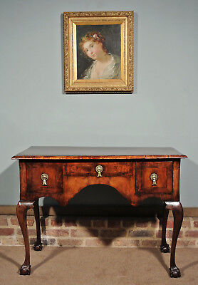 Beautiful 19th Century Walnut Dressing Table or Lowboy