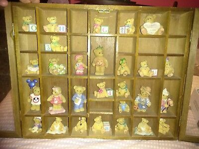 Lot Of 28 Cherished Teddies With Wooden Case