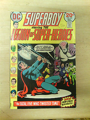 SUPERBOY LEGION OF SUPER-HEROES No198 1973 20 CENTS COVER PRICE. FN-.