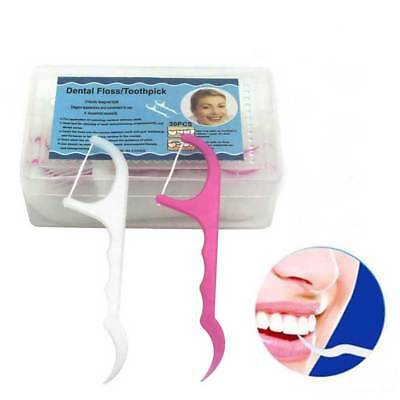 2 IN 1 Dental Floss Flosser Teeth Toothpicks Stick Oral Care Tooth Clean