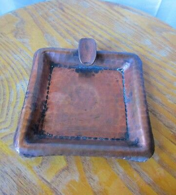 Vintage Roycroft Ashtray Hammered Copper Arts and Crafts Antique Mission 1920s
