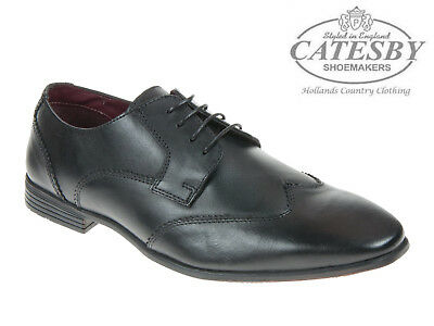 3ab7c4c76bc NEW MENS SMART Shoes Catesby Leather Upper Brown Brogue Occasions ...
