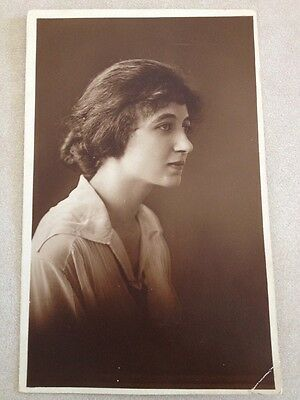 Vintage Antique Early 1900s BETTY Sepia Portrait RPPC Real Photo Postcard