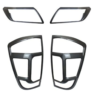 Nissan Navara NP300   CARBON FIBER Front & Rear Head Tail Light Brow Cover Trims