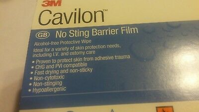 3M ~ Cavilon 3342 ~ No Sting Barrier Film - Ostomy Care Qty 50 - New in Package