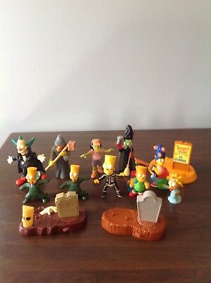 LOT OF 13 The Simpsons Burger King Toys HALLOWEEN and More, EUC