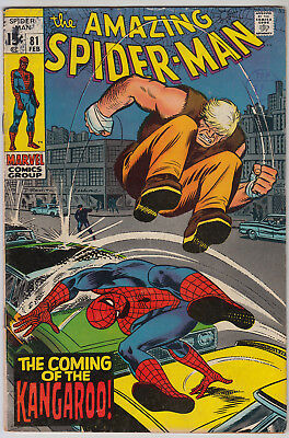 AMAZING SPIDER-MAN #81 VG+ (4.5) Cents