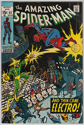 AMAZING SPIDER-MAN #82 VG+ (4.5) Cents