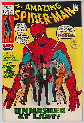 AMAZING SPIDER-MAN #87 VG/FN (5.0) Cents