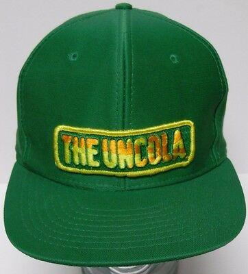 6ef501f5c111e Vintage 1980s Green 7 UP THE UNCOLA POP SODA ADVERTISING PATCH SNAPBACK HAT  CAP