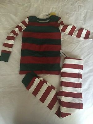 NWT Old Navy Toddler Unisex Mixed Striped Christmas Pajamas    2T/3T/4T