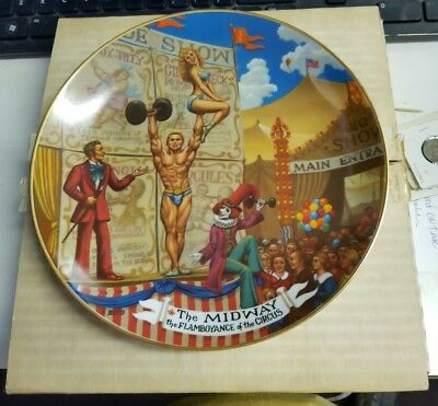 Ringling Bros Barnum & Bailey Circus Collector Plate Midway 1981 New Vintage