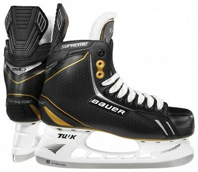 New Bauer Supreme One.7 1001291 Youth 4.5 D Black Ice Hockey Skates
