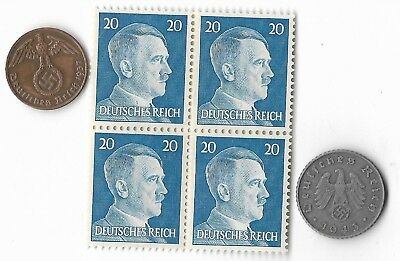 Authentic Rare Old German WWII WW2 Germany Coin Stamp Great Collection War Lot