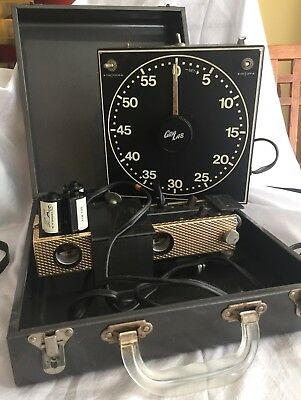 Vintage Photography Film Developing Equipment, Lightbox and Timer