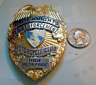 "Blue Knights Law Enforcement Motorcycle Club Badge ""RIDE WITH PRIDE"""
