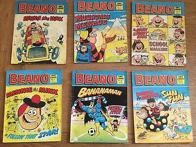 The Beano Comic Library Issues 3 5 6 7 8 9 Lot Vintage UK Comic