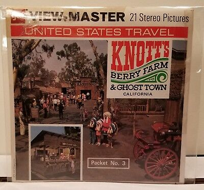 Knott's Berry Farm & Ghost Town - View Master Complete 3  Reel Packet #A-237