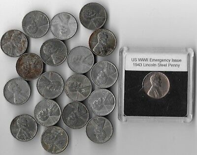 Rare Very Old WWII US Collection usa ww2 Steel Coin Collectible 1943 War Big Lot