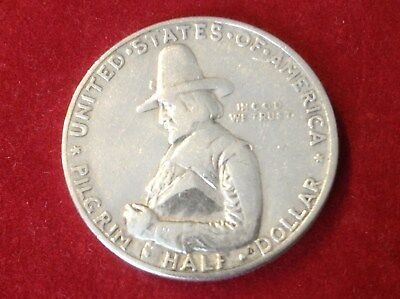 Münze Half Dollar USA Silber 1920 William Bradford Auswanderschiff Mayflower