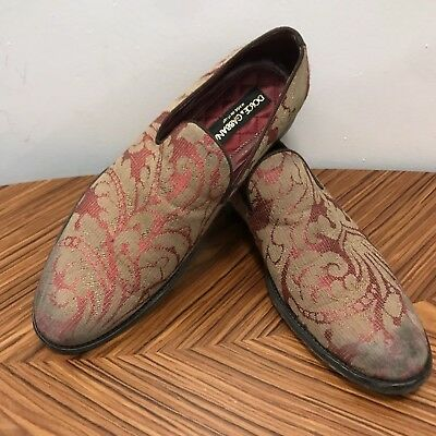 032e4dc18075 NEW Baroque  1000 DOLCE   GABBANA Floral Distressed Shoes Loafer Slipper  40 7.5