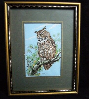 Cash's Woven Picture Miniature Owl Collector Series Framed
