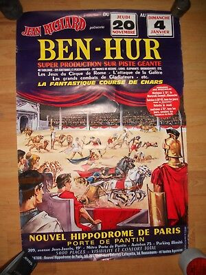affiche JEAN RICHARD spectacle BEN- HUR 1975