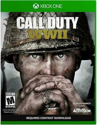 Call of Duty: WWII (Microsoft Xbox One, 2017) COMPLETE CASE DISK INSERTS NES HQ