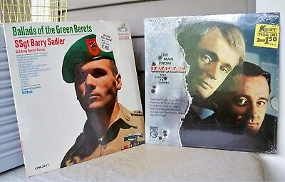 Lot of 2 Vintage TV Man from UNCLE Theme Green Beret Ballads MS-544 LPM-3547  s