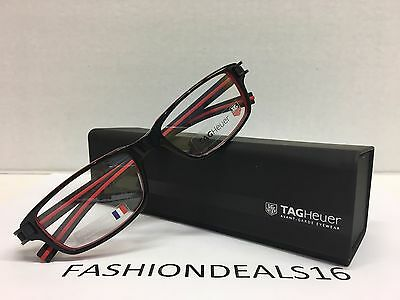New Tag Heuer w/TAGS 7602 Track S Black Red TH7602 001 52mm Eyeglasses