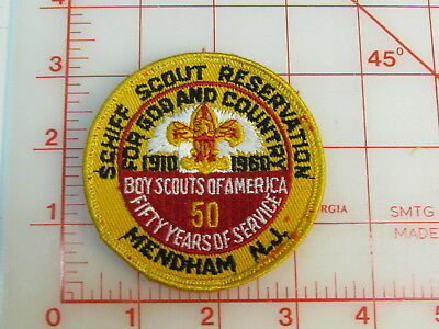 1960 SCHIFF SCOUT RESERVATION sewn collectible patch (gE)